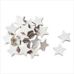 Hvězdičky dřevo 24ks 3cm bílá - velkoobchod, dovoz květin, řezané květiny Brno