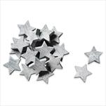 Hvězdičky dřevo 24ks 3cm šedá - velkoobchod, dovoz květin, řezané květiny Brno
