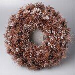 Věnec šišky vánoční pr.32cm hnědá - velkoobchod, dovoz květin, řezané květiny Brno