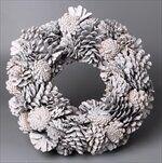 Věnec šišky vánoční pr.38cm patina/gliter - velkoobchod, dovoz květin, řezané květiny Brno