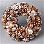 Věnec šišky vánoční pr.34cm patina - velkoobchod, dovoz květin, řezané květiny Brno