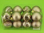 Baňky pvc 16ks/4cm sv.bronz mat/lesk - velkoobchod, dovoz květin, řezané květiny Brno