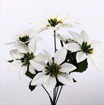 Poinsettia kytice 37cm bílá - velkoobchod, dovoz květin, řezané květiny Brno