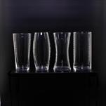 Váza sklo pr.10V20cm mix čirá - velkoobchod, dovoz květin, řezané květiny Brno