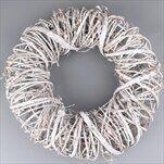Kruh proutí 50cm bílá - velkoobchod, dovoz květin, řezané květiny Brno