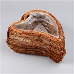 Srdce proutí/pvc 30x23cm natural - velkoobchod, dovoz květin, řezané květiny Brno