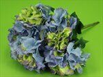 Hortenzie kytice umělá 50cm modrá - velkoobchod, dovoz květin, řezané květiny Brno