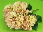 Hortenzie kytice umělá 50cm žlutá - velkoobchod, dovoz květin, řezané květiny Brno