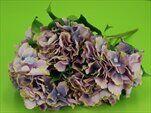 Hortenzie kytice umělá 50cm fialová - velkoobchod, dovoz květin, řezané květiny Brno