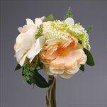 Kytice mix umělá pr.19V25cm bílá - velkoobchod, dovoz květin, řezané květiny Brno