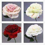 Růže čajová umělá 27cm - velkoobchod, dovoz květin, řezané květiny Brno
