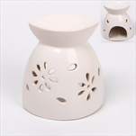 Aromalampa keramika 7,8x9cm bílá - velkoobchod, dovoz květin, řezané květiny Brno