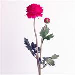 Ranunculus umělý x2/48cm tm.růžová - velkoobchod, dovoz květin, řezané květiny Brno