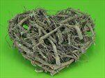 Srdce větvičky 32cm šedá patina - velkoobchod, dovoz květin, řezané květiny Brno
