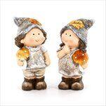 Děti podzim keramika 14,7cm mix - velkoobchod, dovoz květin, řezané květiny Brno