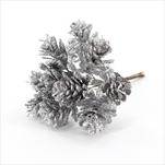 Šišky zápich pvc 11,5cm stříbrná - velkoobchod, dovoz květin, řezané květiny Brno