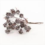Přízdoba vánoční zápich PVC 17cm hnědá patina - velkoobchod, dovoz květin, řezané květiny Brno