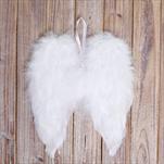 Křídla závěs peří 18x21 bílá - velkoobchod, dovoz květin, řezané květiny Brno