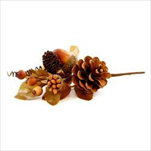 Větvička podzimní textil/pvc 15cm hnědá - velkoobchod, dovoz květin, řezané květiny Brno