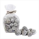 Dekorační sušené plody 2-3cm bílá - velkoobchod, dovoz květin, řezané květiny Brno