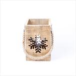 Lucerna vánoční dřevo/sklo 16cm - velkoobchod, dovoz květin, řezané květiny Brno