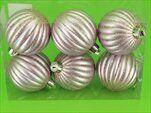 Baňky pvc 6ks/6cm stříbrná/růžový gliter - velkoobchod, dovoz květin, řezané květiny Brno