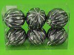 Baňky pvc 6ks/6cm šedá/stříbrný gliter - velkoobchod, dovoz květin, řezané květiny Brno