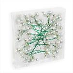 Koule zápich sklo 72ks/2cm čirá perleť - velkoobchod, dovoz květin, řezané květiny Brno