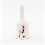 Zvonek vánoce porcelán 13,5cm bílá - velkoobchod, dovoz květin, řezané květiny Brno