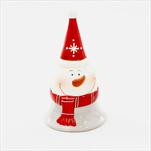 Zvonek sněhulák porcelán 13,5cm bílá/šedý - velkoobchod, dovoz květin, řezané květiny Brno