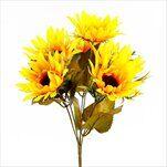 Slunečnice kytice umělá x6 32cm - velkoobchod, dovoz květin, řezané květiny Brno