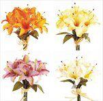 Lilie kytice x7 30cm mix - velkoobchod, dovoz květin, řezané květiny Brno