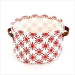 Vánoční obal textil pr.25 v.16 bílá/červená - velkoobchod, dovoz květin, řezané květiny Brno