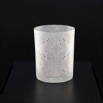 Svícen sklo pr.7,3 v.8cm bílá/růžová - velkoobchod, dovoz květin, řezané květiny Brno