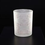 Svícen sklo pr.10 v.12.5cm bílá/růžová - velkoobchod, dovoz květin, řezané květiny Brno