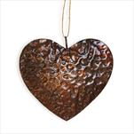 Závěs srdce kov 12x2,5cm - velkoobchod, dovoz květin, řezané květiny Brno
