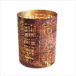 Svícen kov 10x13cm fialový - velkoobchod, dovoz květin, řezané květiny Brno