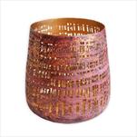 Svícen kov 12x11cm fialový - velkoobchod, dovoz květin, řezané květiny Brno