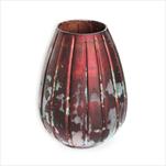Váza sklo pr.14 v.20cm bordó - velkoobchod, dovoz květin, řezané květiny Brno