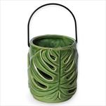 Lucerna Monstera keramika 12cm zelená - velkoobchod, dovoz květin, řezané květiny Brno