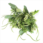 Zeleň kytice umělá 44cm zelená/bílá - velkoobchod, dovoz květin, řezané květiny Brno