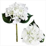Hortenzie umělá 33cm bílá - velkoobchod, dovoz květin, řezané květiny Brno
