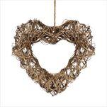 Srdce proutí 25cm natural - velkoobchod, dovoz květin, řezané květiny Brno