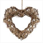 Srdce proutí 34cm natural - velkoobchod, dovoz květin, řezané květiny Brno