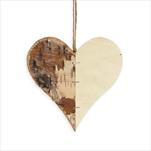 Srdce dřevo 9,5cm natural - velkoobchod, dovoz květin, řezané květiny Brno