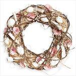 Věnec velikonoce proutí 35cm růžová - velkoobchod, dovoz květin, řezané květiny Brno
