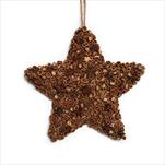 Hvězda závěs skořice/badyán 21cm hnědá - velkoobchod, dovoz květin, řezané květiny Brno