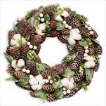 Věnec vánoční pr.47cm natural - velkoobchod, dovoz květin, řezané květiny Brno