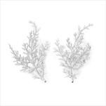 Větvička přízdoba pvc 2ks/14cm bílá - velkoobchod, dovoz květin, řezané květiny Brno