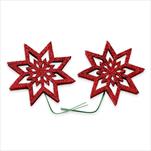 Hvězda pvc/drátek 2ks/8cm červená - velkoobchod, dovoz květin, řezané květiny Brno